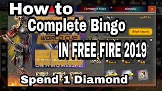 How to complete bingo in free fire || FREE FIRE BATTLEGROUND ||