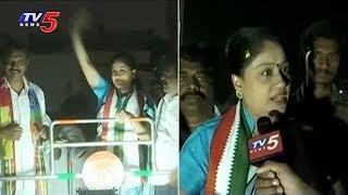 Vijayashanti face-to-face on poll campaign..