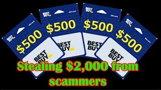 Stealing $2,000 from scammers