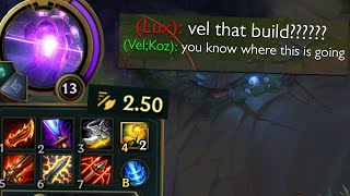 """Vel'Koz but his tentacles slap rly fast and we've watched enough """"cartoons"""" to kno where this's goin"""