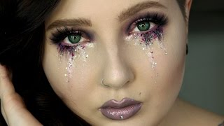 Glitter Tears Eye Makeup Tutorial | Jordan Hanz