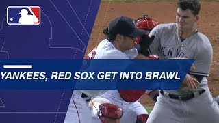 Benches clear twice between Yankees, Red Sox