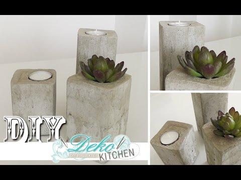 diy stylische deko kerzenleuchter aus beton einfach selber machen deko kitchen youtube. Black Bedroom Furniture Sets. Home Design Ideas