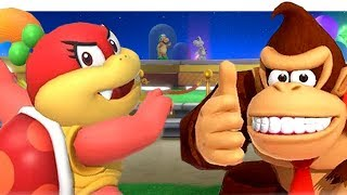 Unlocking New Characters In Super Mario Party   Open World   DK Diddy Kong Dry Bones & Pom Pom