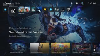 Looking at PS5 Home Menu (No Commentary)