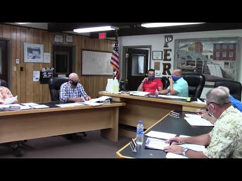 Peru Town Board Meeting  8-10-20