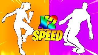 10 Fortnite Dances That SOUND BETTER In x2 SPEED..!!