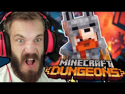 Playing Minecraft Dungeons