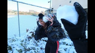 SNOWBALL FIGHT GONE WRONG!! | VLOGMAS DAY 9