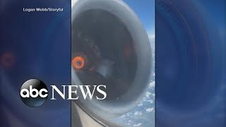 Video shows moments before plane's emergency landing