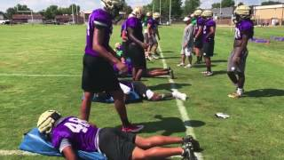 First day of football practice 2017