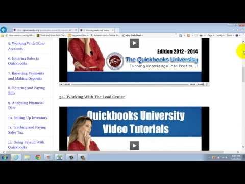 What Will I Learn In The Quickbooks University Quickbooks Tutorials?