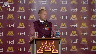 Press Conference: P.J. Fleck on Gophers' 54-21 Win Over Nebraska