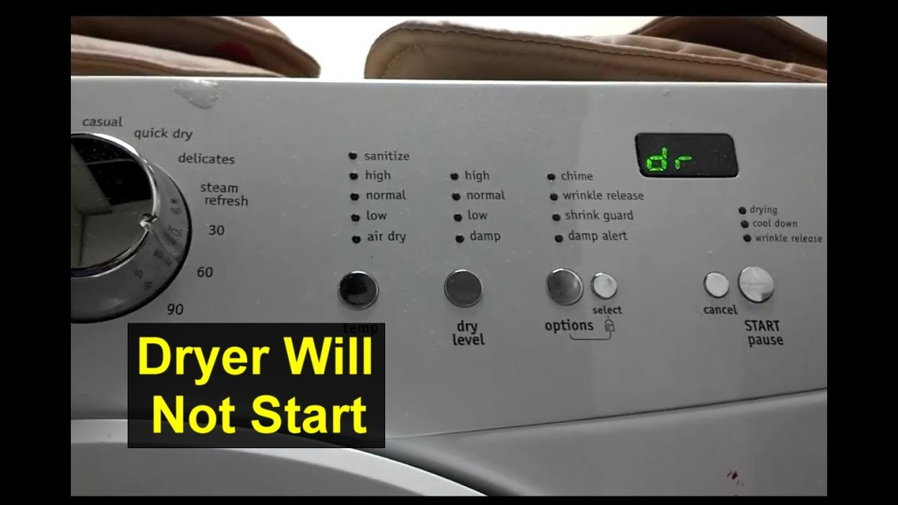 dryer will not start dr displayed e66 error frigidaire. Black Bedroom Furniture Sets. Home Design Ideas