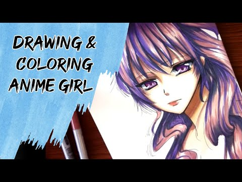 Drawing Coloring Anime Girl Youtube