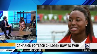 Simone Manuel talks teaching children how to swim