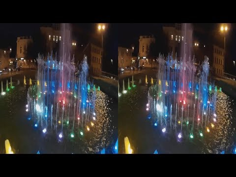 Night Fountains 3D! Epochal 3D VIDEO! 3D VIDEO