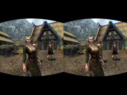 MODDED SKYRIM VR EP1 AWESOME OCULUS RIFT DK2 VIREIO PERCEPTION 2.1