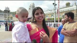 Anchor Syamala offers prayers at Tirumala, speaks about ne..
