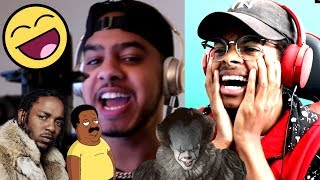 FUNNIEST RAP EVER   Hit Rap Songs in Voice Impressions! (SICKO MODE, Mo Bamba, Bleed)   Reaction
