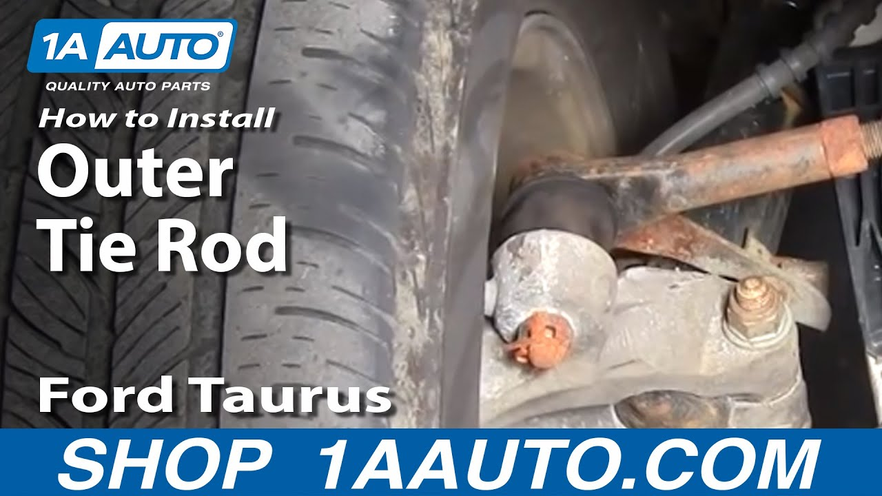 How To Install Replace Steering Outer Tie Rod End Ford ...