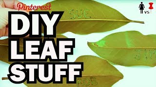DIY Leaf Stuff - Corinne Vs Pin #33