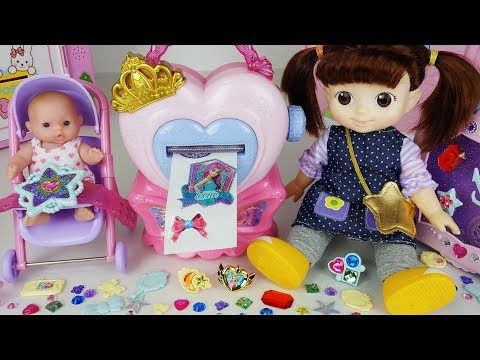 Baby doll bag and jewelry sticker maker toys beauty house play - 토이몽