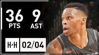 Russell Westbrook Full Highlights Thunder vs Lakers (2018.02.04) - 36 Pts, 9 Asts | 2017-18 Season