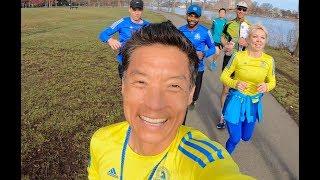 Boston Marathon 2019 GoPro Video Recap by Tim Park, Marine Veteran Micah Herndon in Tunnel at 4:02.