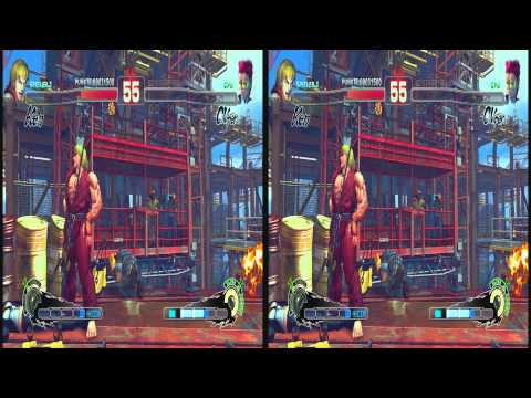 (3D & 4K) Super Street Fighter 4 3840x2160 Ken vs C.Viper (Ultra HD) Oculus Rift