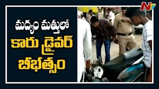 One died after speeding car rams into hotel in Hyderabad..
