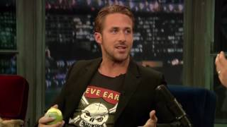 Jimmy Fallon Fake Laughing Obnoxiously through an entire Interview with Ryan Gosling