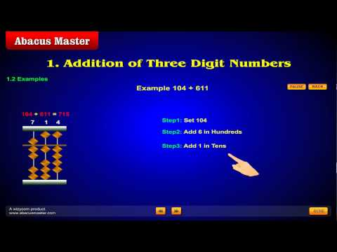 Abacus Addition of 3 Digit Numbers