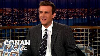 "Jason Segel Has Been 6'4"" Since He Was 12 - ""Late Night With Conan O'Brien"""