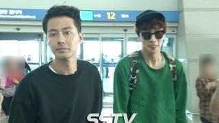 [SSTV] 조인성(Zo In Sung)-이광수(Lee Kwang Soo) 등 '괜찮아 사랑이야' 포상휴가 출국 현장!
