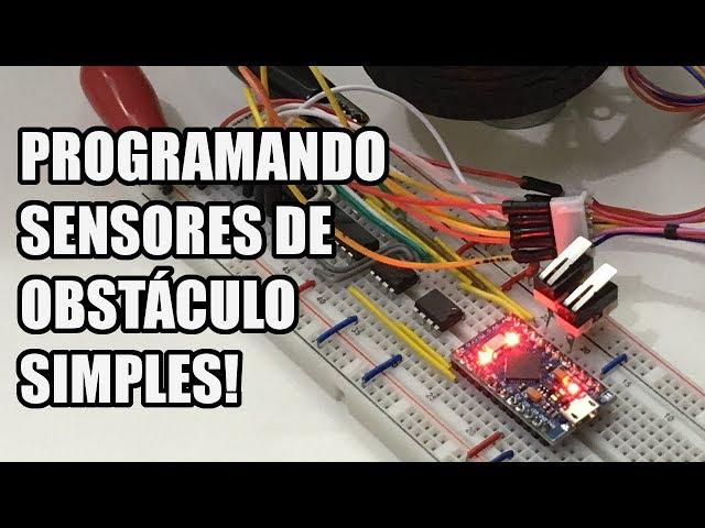 COMO FUNCIONAM SENSORES DE OBSTÁCULO SIMPLES? | Usina Robots US-3 #010