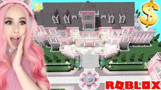 BUYING THE WORLD'S BIGGEST $2 MILLION DOLLAR PINK MANSION IN BLOXBURG! Pink Mansion Tour