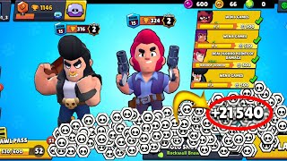 I Got 21,540 TOKENS in This Video!!🤯 62 QUESTS!!✅ 51 TIERS!!👻 - Brawl Stars