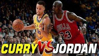 Stephen Curry vs Michael Jordan:  NBA 2K14 Warriors Vs Bulls
