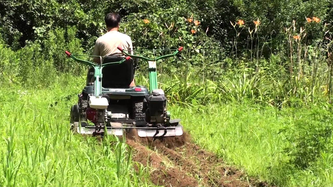 2 Tiller Shark Tow Behind By A Garden Lawn Tractor For