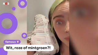 Welke kleur zijn de schoenen van Billie Eilish?