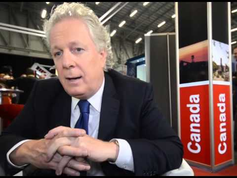 The Honourable Jean Charest at Mining Indaba, Cape Town, South Africa