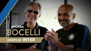 ANDREA BOCELLI | The Maestro performs in front of Inter staff and players 🎼🎹🎤