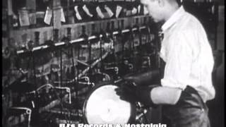 HISTORY OF VINYL RECORDS #1 - The 78 RPM Single.  Manufacturing plant RCA