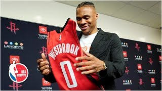 Russell Westbrook introduced as a Houston Rocket | NBA on ESPN