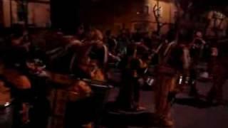La comparsa Caribe  en el desfile de la tamborada 2008