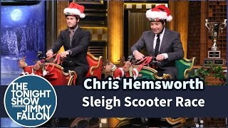 Sleigh Scooter Race with Chris Hemsworth