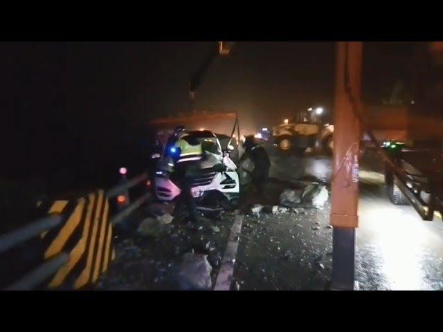 蘇花公路170K落石砸車 一度交通中斷