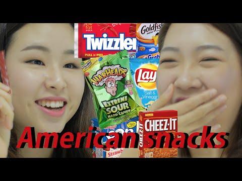 Korean girls taste American snacks (ENG sub)