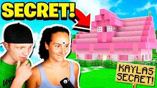 FINDING MY GIRLFRIEND'S SECRET MINECRAFT WORLD!